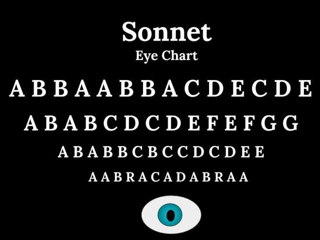 Sonnet Eye Chart (1)