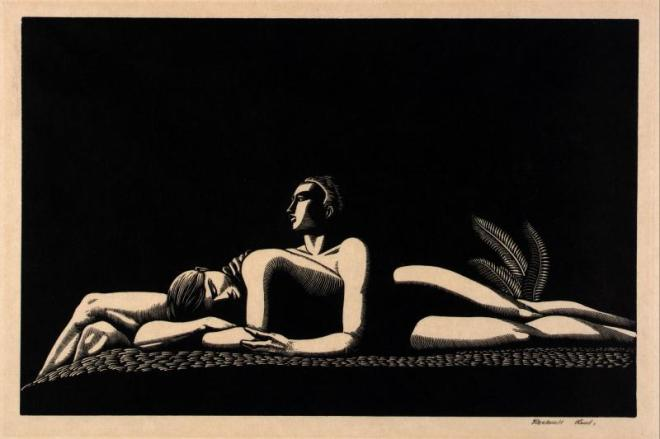 Rockwell Kent The lovers